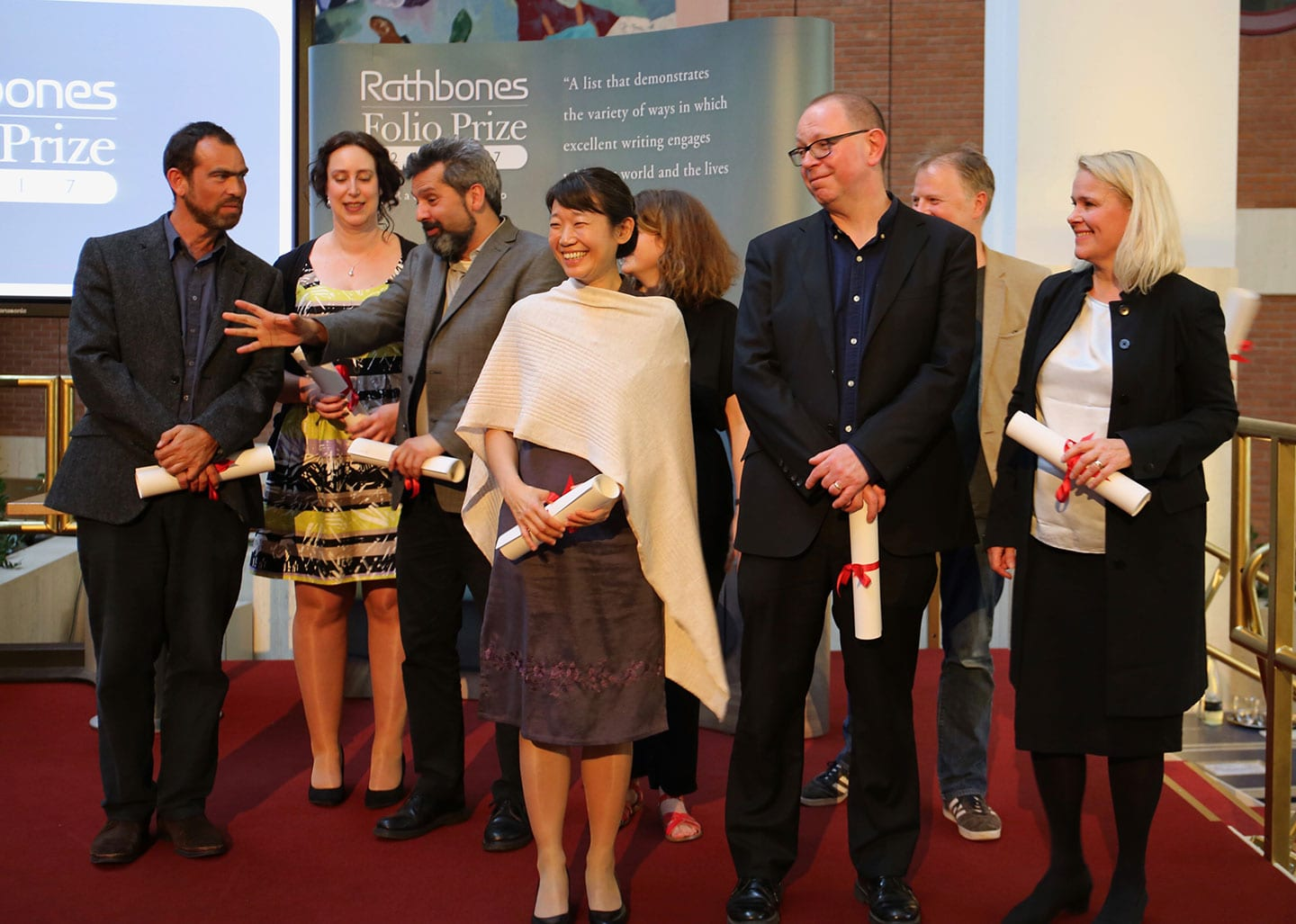 Rathbones Folio Prize shortlisted authors and representatives